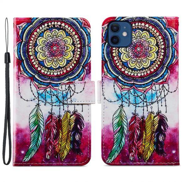 Housse iPhone 12 mini attrape rêves coloré