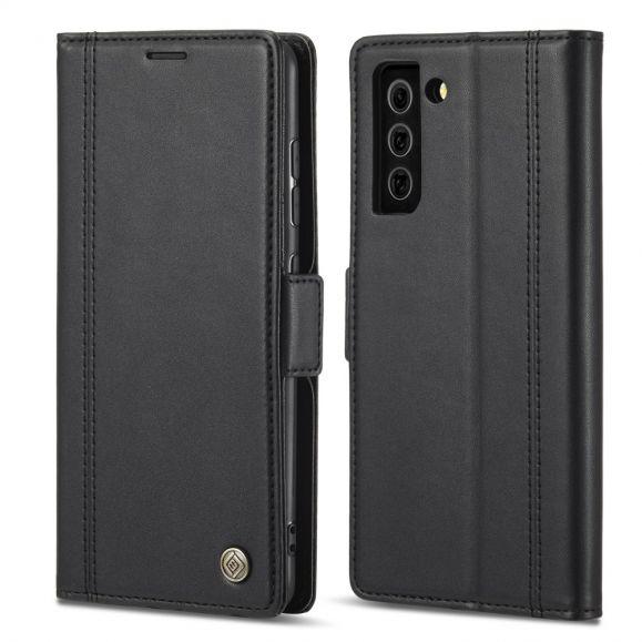 Housse Samsung Galaxy S21 FE LC.IMEEKE Folio effet cuir