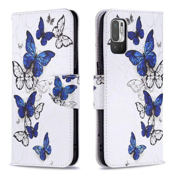 Housse Xiaomi Redmi Note 10 5G / Poco M3 Pro multiples papillons