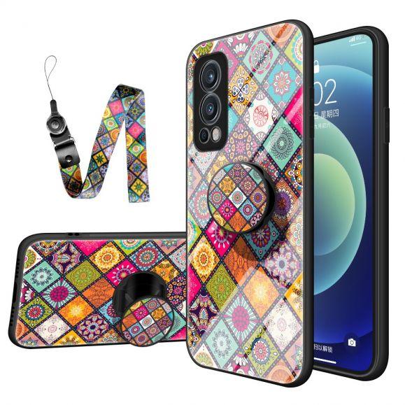 Coque OnePlus Nord 2 5G Kaleidoscope Mandala avec support