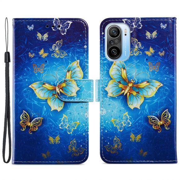 Housse Xiaomi Mi 11i 5G / Poco F3 Golden Butterfly