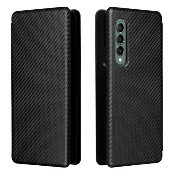 Housse Samsung Galaxy Z Fold3 5G simili cuir fibre de carbone