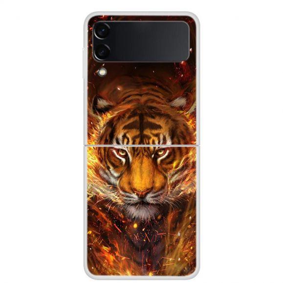 Coque Samsung Galaxy Z Flip3 5G Tigre de feu