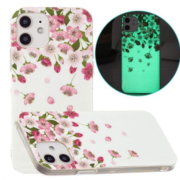Coque iPhone 12 / 12 Pro Fluorescente Fleurs