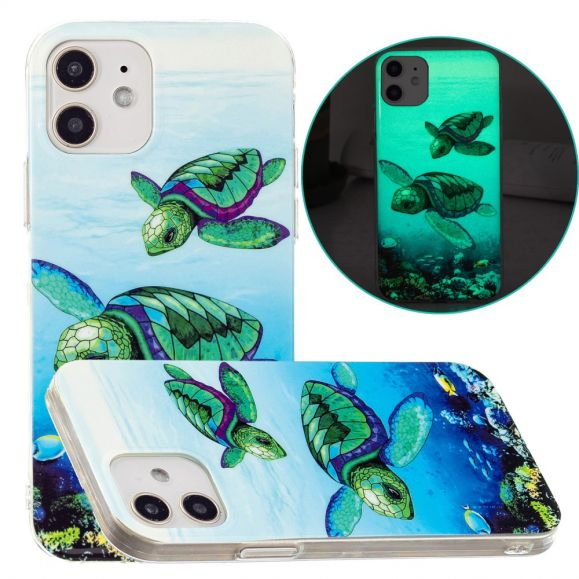 Coque iPhone 12 / 12 Pro Fluorescente Tortues