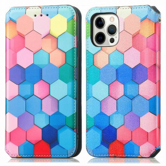 Housse iPhone 12 / 12 Pro nid d'abeille coloré