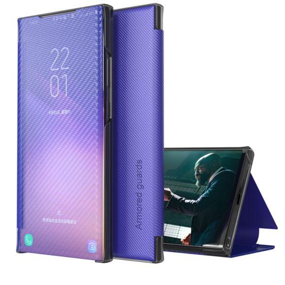 Flip cover Samsung Galaxy A12 / M12 Fibre de carbone