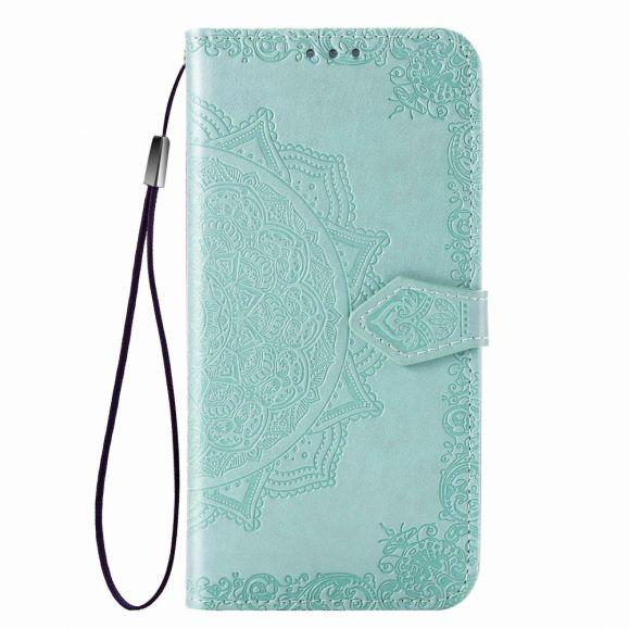 Housse Xiaomi Redmi Note 8 2021 / 2019 Mandala relief en simili cuir