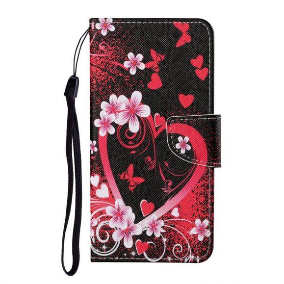 Housse Samsung Galaxy A12 / M12 Coeur Fleuri