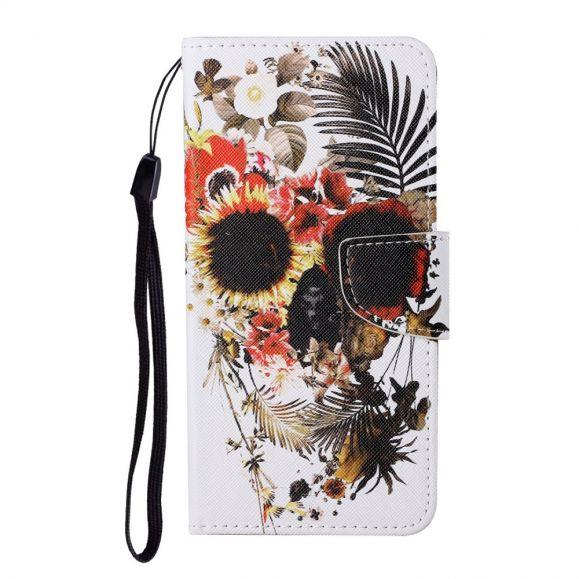 Housse Samsung Galaxy A12 / M12 Tête de mort tropical