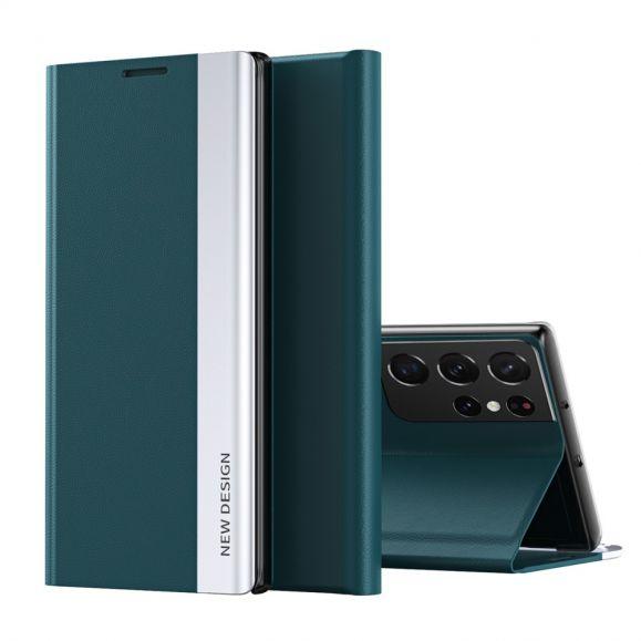 Etui Samsung Galaxy S21 Ultra 5G Business effet cuir Magnet