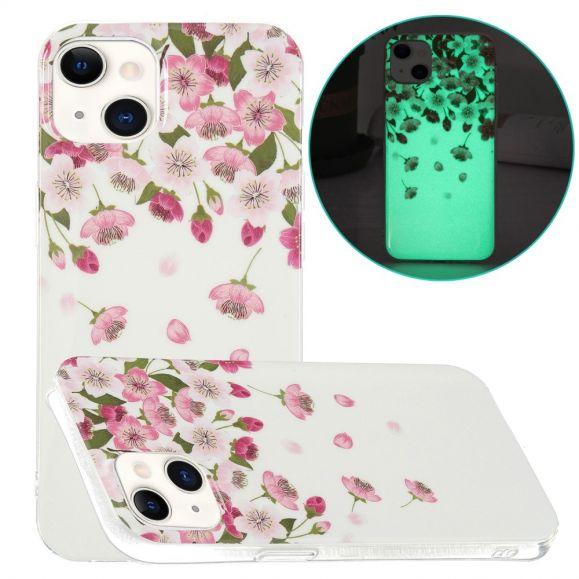 Coque iPhone 13 Fluorescente Fleurs
