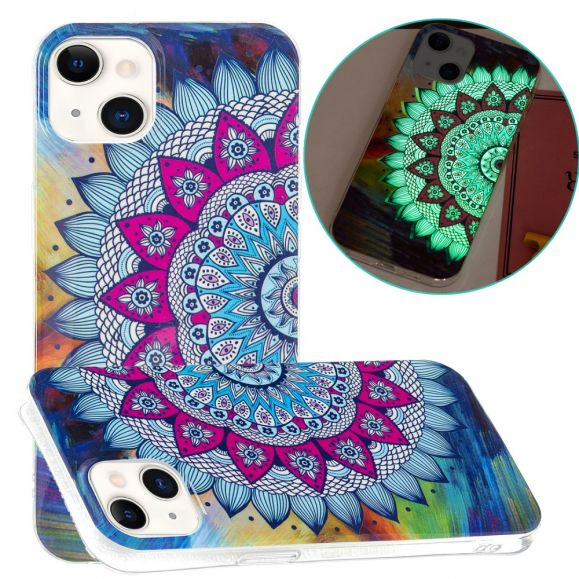 Coque iPhone 13 Fluorescente Mandala Coloré