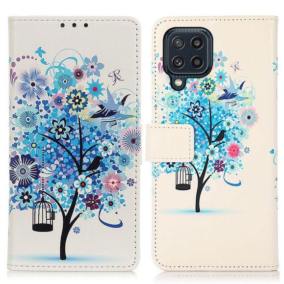 Housse Samsung Galaxy M32 Arbre bleu
