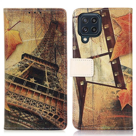 Housse Samsung Galaxy M32 Tour Eiffel en Automne