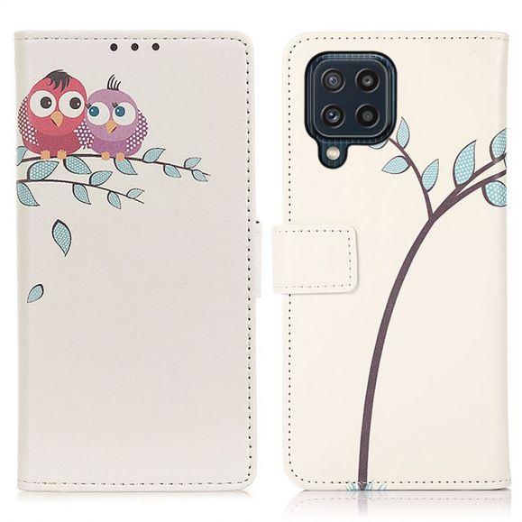 Housse Samsung Galaxy M32 Couple de hiboux
