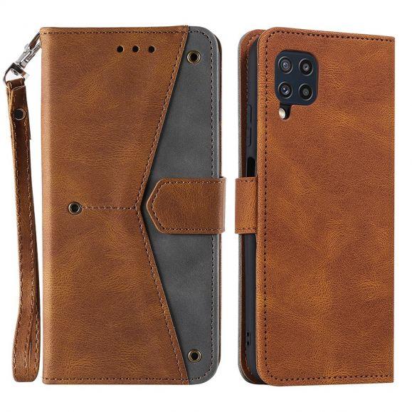 Housse Samsung Galaxy M32 Folio bicolore à lanière
