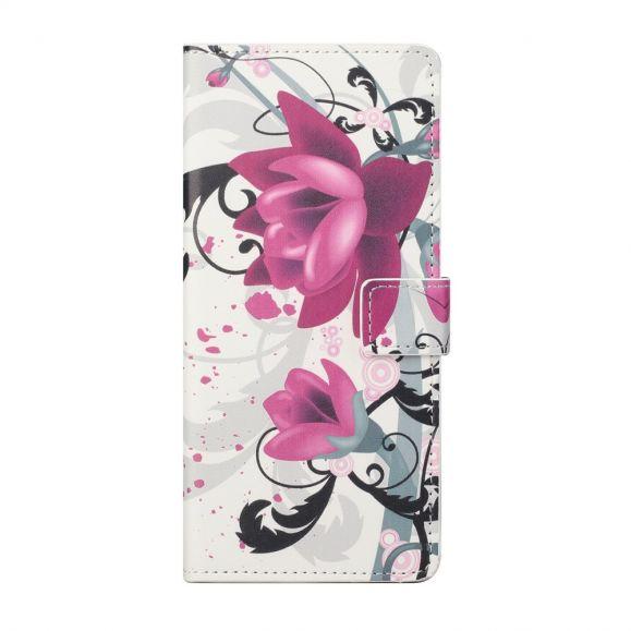 Housse Motorola Edge 20 Fleurs de lotus