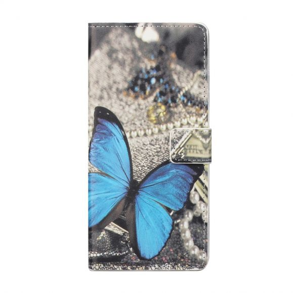 Housse Motorola Edge 20 Papillon Bleu