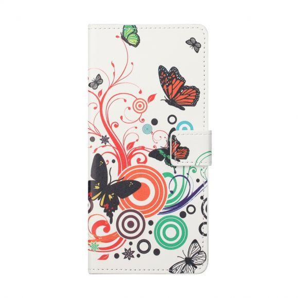 Housse Motorola Edge 20 Papillons Rétro