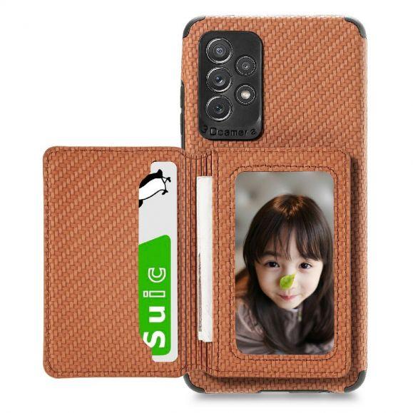 Coque Samsung Galaxy A52 4G / 5G / A52s 5G Fibre Carbone Porte Cartes