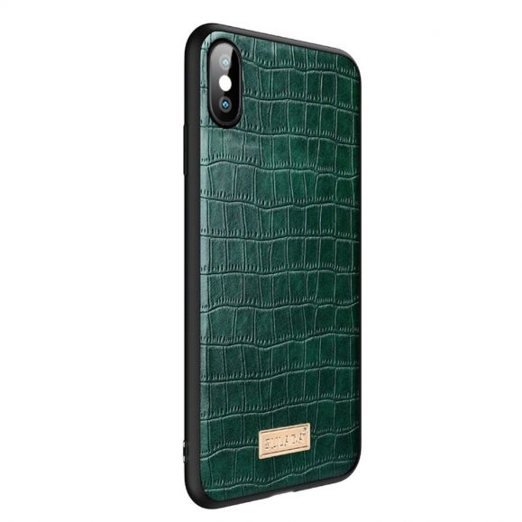 Coque iPhone XS / X SULADA Croco Effet Cuir