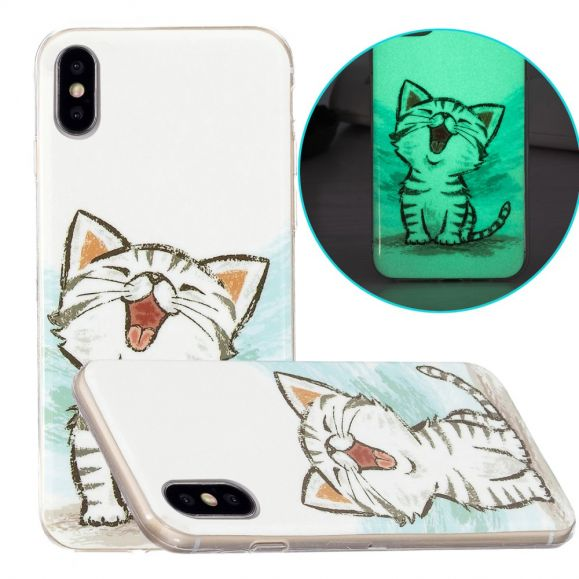 Coque iPhone XS / X Fluorescente Chat content