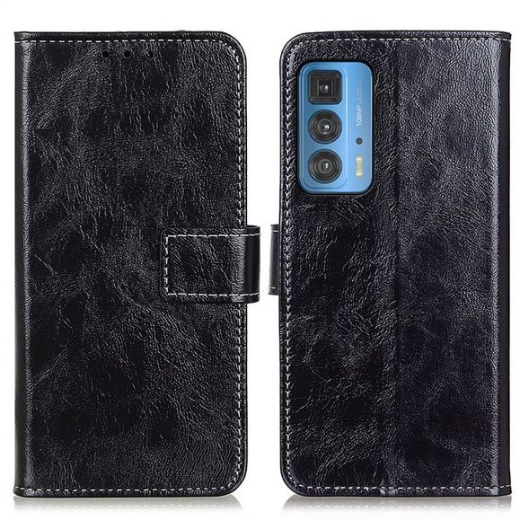 Housse Motorola Edge 20 Pro effet cuir luxueux coutures