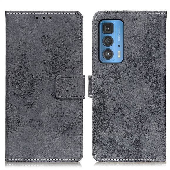 Housse Motorola Edge 20 Pro Cyrius simili cuir vintage