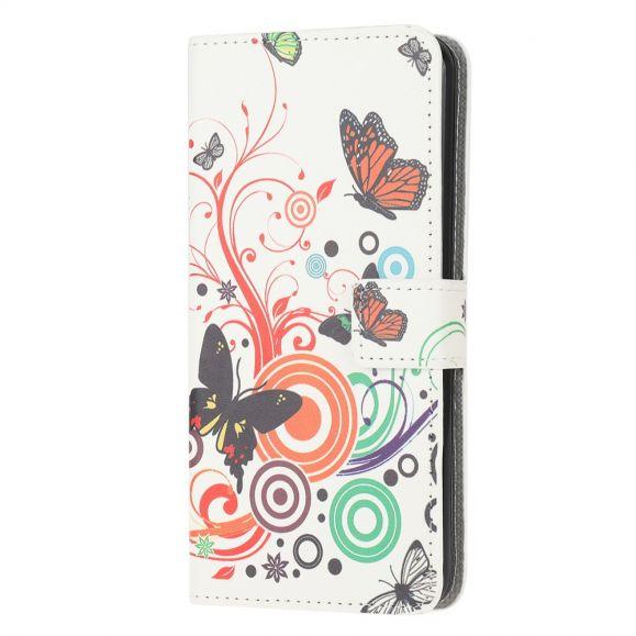 Housse Samsung Galaxy M32 Papillons Rétro
