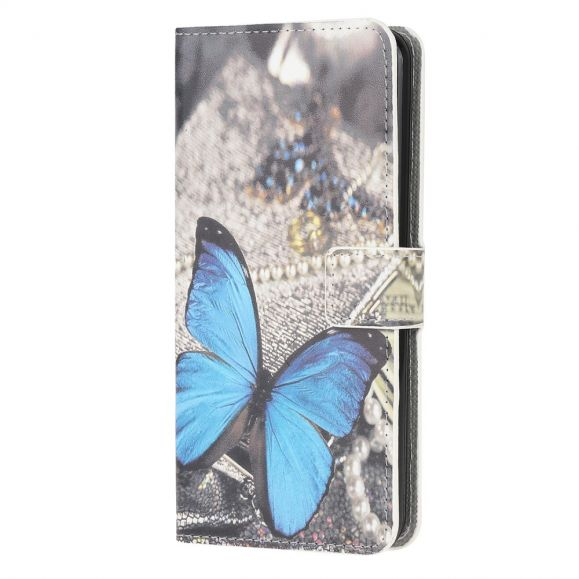 Housse Samsung Galaxy M32 Papillon Bleu
