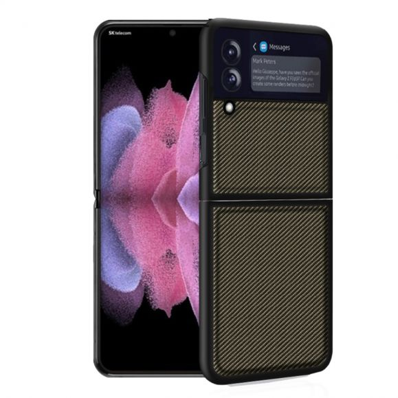 Coque Samsung Galaxy Z Flip3 5G Ultra mince Fibre Carbone
