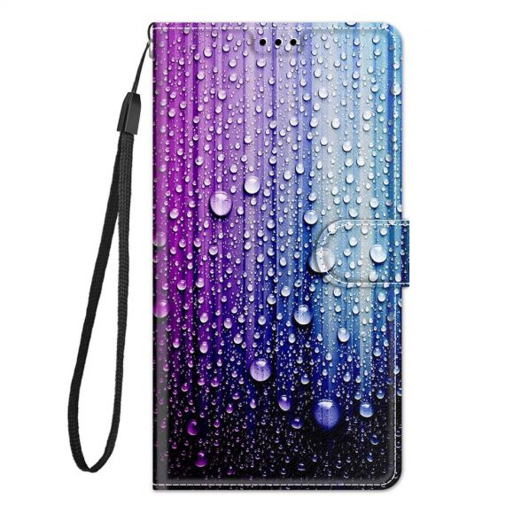 Housse Samsung Galaxy A52, A52 5G et A52s 5G Gouttes d'eau