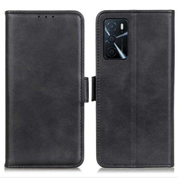 Étui Oppo A16 / A16s portefeuille simili cuir mat