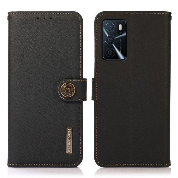 Housse Oppo A16 / A16s KHAZNEH Classic en cuir
