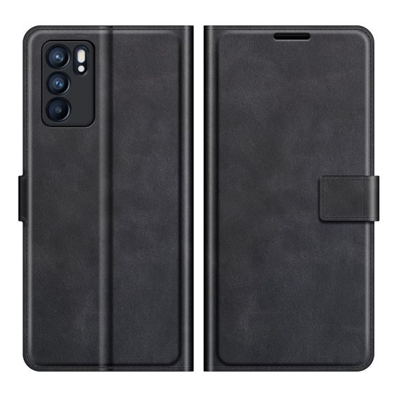 Housse Oppo Reno 6 Pro 5G portefeuille style cuir