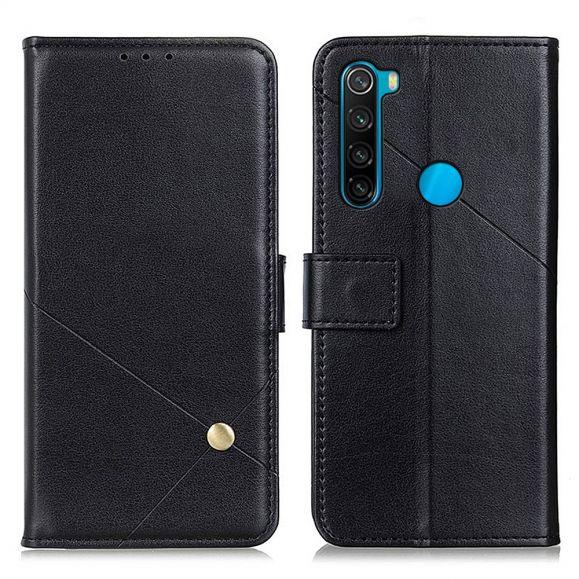 Housse Xiaomi Redmi Note 8 2021 / 2019 Rabat simili cuir avec rivet