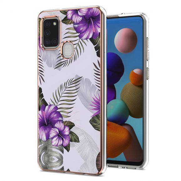 Coque Samsung Galaxy A21s Fleurs Exotiques