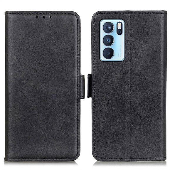 Étui Oppo Reno 6 Pro 5G portefeuille simili cuir mat