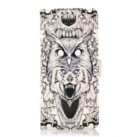 Housse Oppo Reno 6 Pro 5G Hibou et Loup