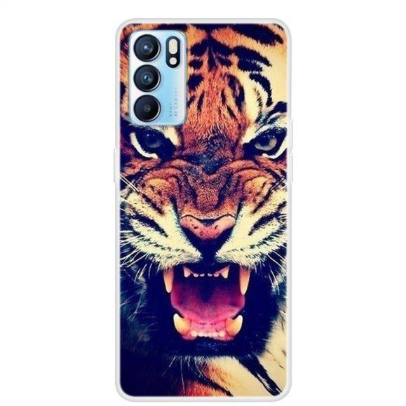 Coque Oppo Reno 6 5G Tigre Féroce