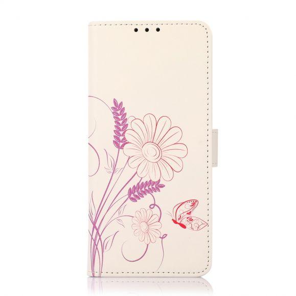 Housse Oppo Reno 6 5G Illustration Fleurs et Papillon