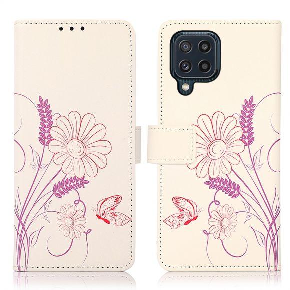 Housse Samsung Galaxy M32 Illustration Fleurs et Papillon