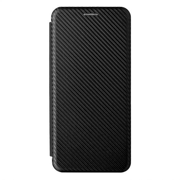 Housse Motorola Edge 20 Pro simili cuir fibre de carbone