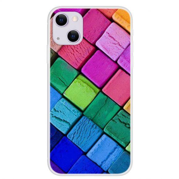 Coque iPhone 13 Blocs Colorés