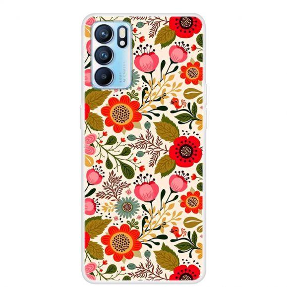 Coque Oppo Reno 6 5G Fleurs Colorées