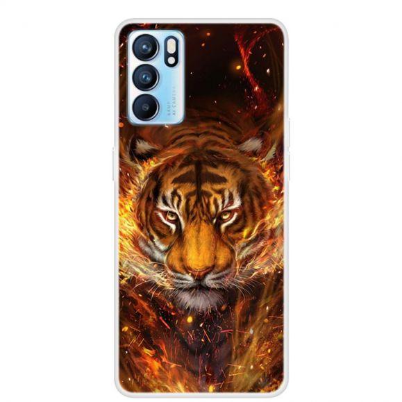 Coque Oppo Reno 6 5G Tigre de feu