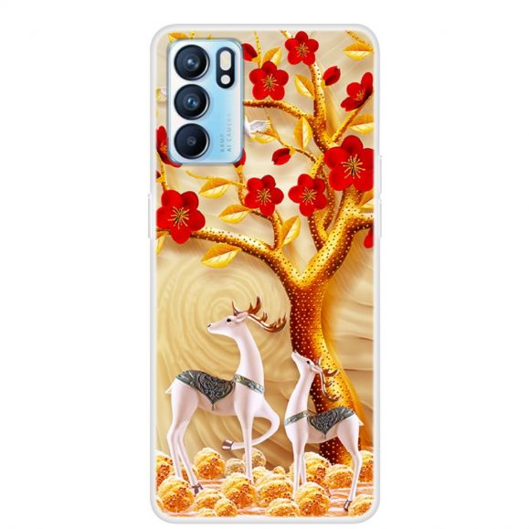 Coque Oppo Reno 6 5G Cerf sika