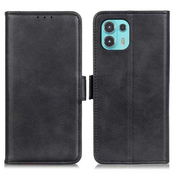 Étui Motorola Edge 20 Lite portefeuille simili cuir mat