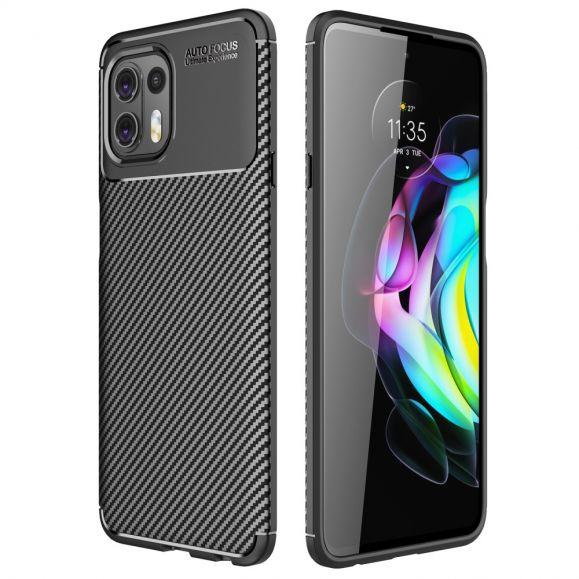 Coque Motorola Edge 20 Lite style fibre de carbone